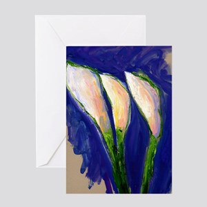 Setting Sail Calla Lily Art Painting Greeting Card