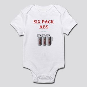 Six Pack Abs (beer belly) Infant Bodysuit