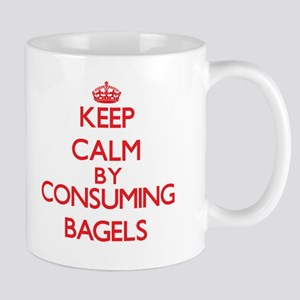 Keep calm by consuming Bagels Mugs