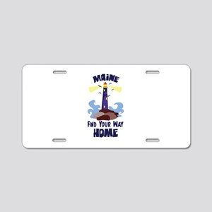 Maine Find Your Way Home Aluminum License Plate
