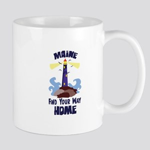 Maine Find Your Way Home Mugs