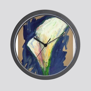 Tuxedo Cuff Calla Lily Painting Wall Clock