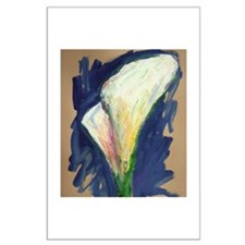 Tuxedo Cuff Calla Lily Painting Posters