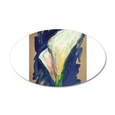 Tuxedo Cuff Calla Lily Painting Wall Decal