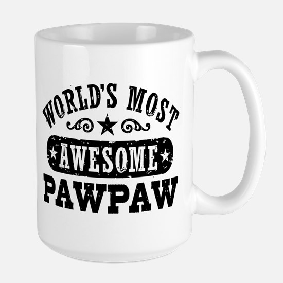 World's Most Awesome PawPaw Large Mug