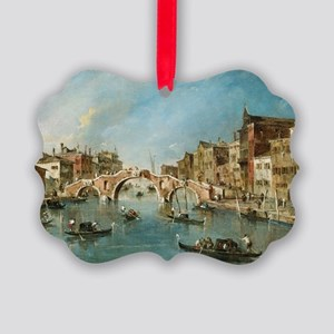 View on the Cannaregio Canal Veni Picture Ornament