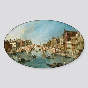 View on the Cannaregio Canal Venice Sticker (Oval)