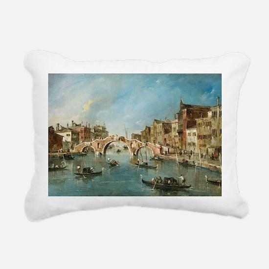 View on the Cannaregio C Rectangular Canvas Pillow
