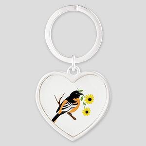 Black Eyed Susan Bird Keychains