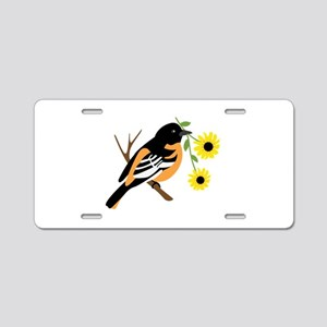 Black Eyed Susan Bird Aluminum License Plate
