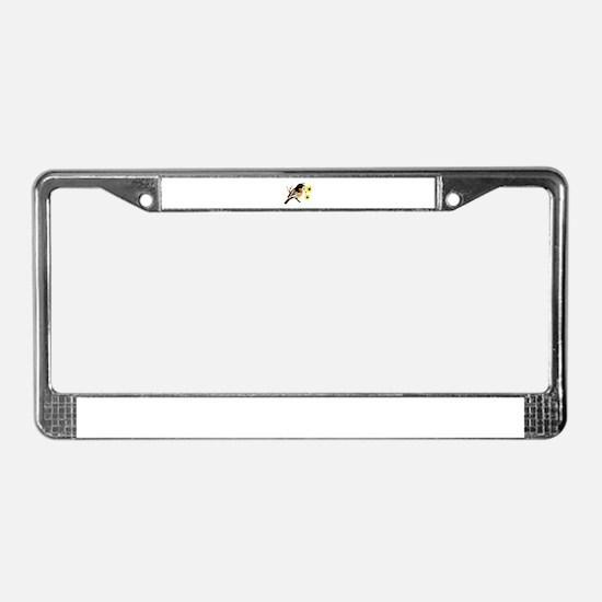 Black Eyed Susan Bird License Plate Frame