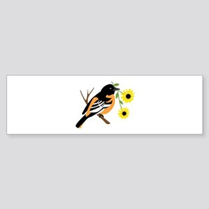 Black Eyed Susan Bird Bumper Sticker