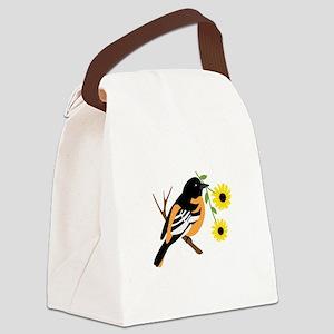 Black Eyed Susan Bird Canvas Lunch Bag