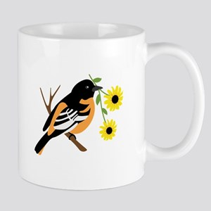 Black Eyed Susan Bird Mugs
