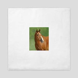 Bay Horse Queen Duvet