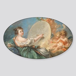 Francois Boucher - Allegory of Pain Sticker (Oval)