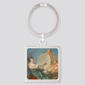 Francois Boucher - Allegory of Pai Square Keychain