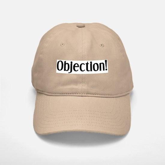 objection Baseball Baseball Cap