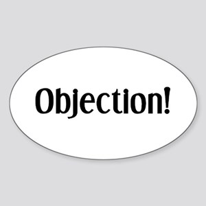 objection Sticker (Oval)