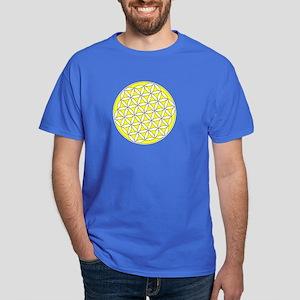 Flower of Life Yellow Dark T-Shirt