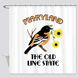 The Old Line State Shower Curtain