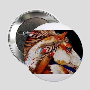 "Spirit Horse 2.25"" Button"