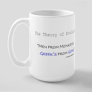 Greek Evolution Large Mug