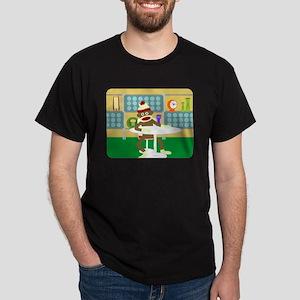 Sock Monkey Retro Modern Furniture Dark T-Shirt