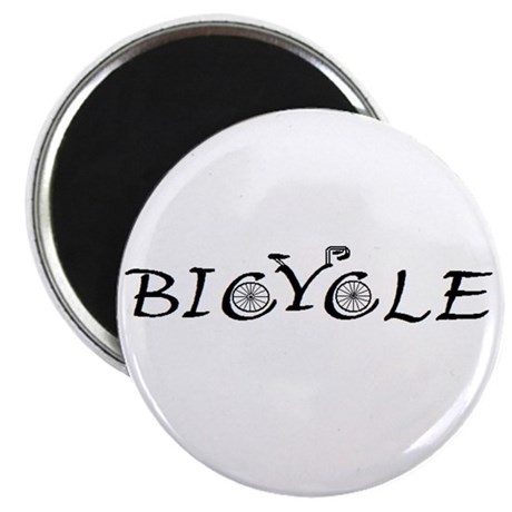 "BICYCLE WORD - FINE HAND 2.25"" Magnet (10 pack)"