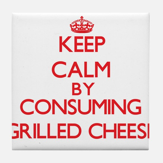 Keep calm by consuming Grilled Cheese Tile Coaster