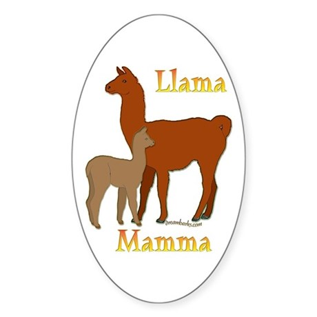 Alpaca & Cria Oval Sticker