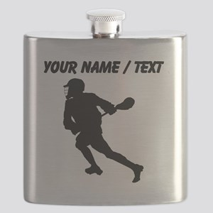 Custom Lacrosse Player Silhouette Flask