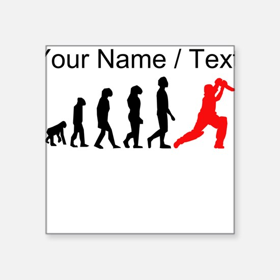 Custom Cricket Evolution (Red) Sticker
