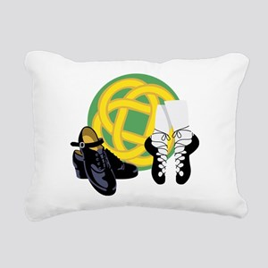 Celtic Knot Irish Shoes Rectangular Canvas Pillow