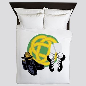 Celtic Knot Irish Shoes Queen Duvet