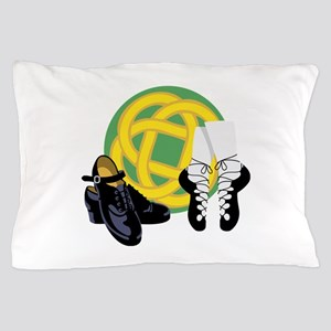 Celtic Knot Irish Shoes Pillow Case