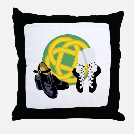 Celtic Knot Irish Shoes Throw Pillow