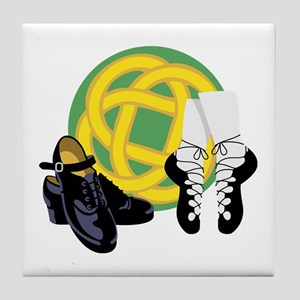 Celtic Knot Irish Shoes Tile Coaster