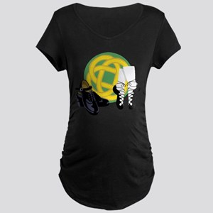 Celtic Knot Irish Shoes Maternity T-Shirt