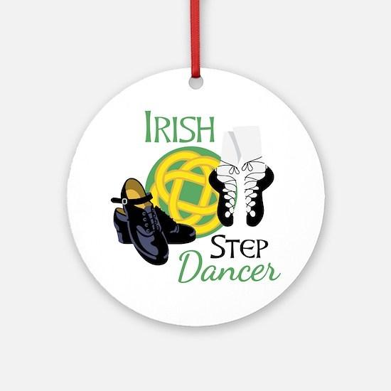 IRISH STEP Dancer Ornament (Round)