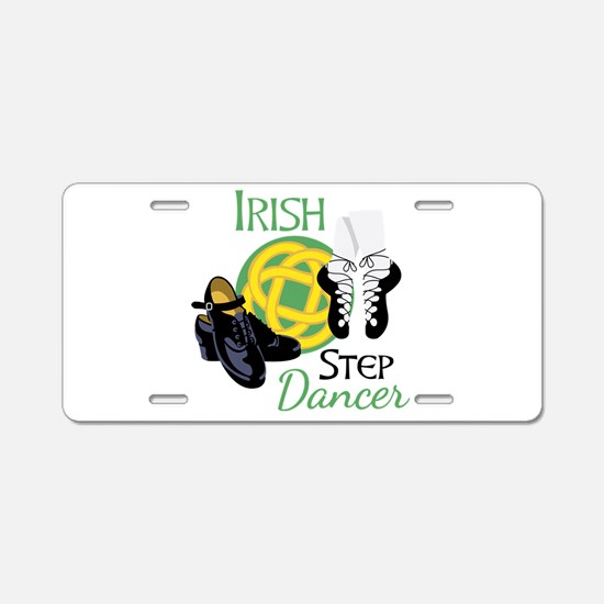 IRISH STEP Dancer Aluminum License Plate