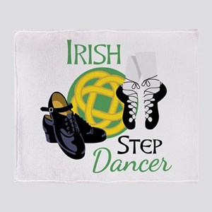 IRISH STEP Dancer Throw Blanket
