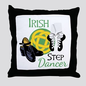 IRISH STEP Dancer Throw Pillow