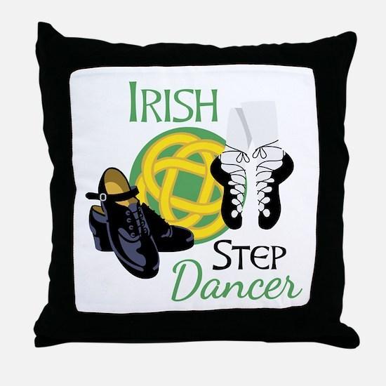 IRISH STEP Dancer Throw Pillow