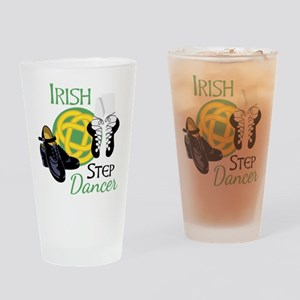 IRISH STEP Dancer Drinking Glass