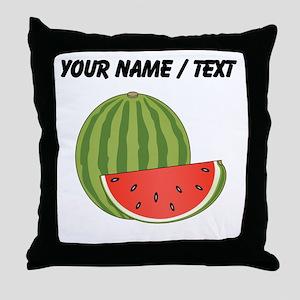 Custom Watermelon Throw Pillow