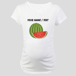 Custom Watermelon Maternity T-Shirt