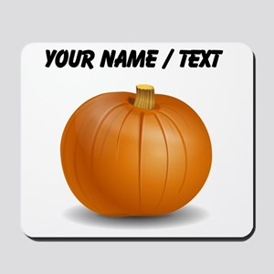 Custom Orange Pumpkin Mousepad