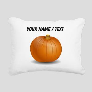 Custom Orange Pumpkin Rectangular Canvas Pillow