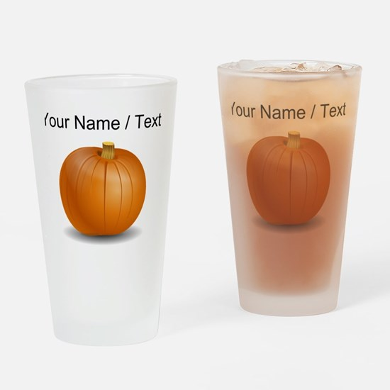 Custom Orange Pumpkin Drinking Glass